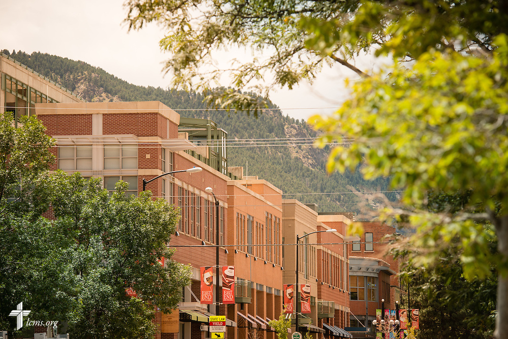 An exterior photograph of the city on Wednesday, July 22, 2015, in Boulder, Colo. LCMS Communications/Erik M. Lunsford