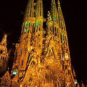 Sagrada familia by Gaudi..Barcelona, Spain.