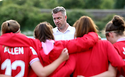 Willie Kirk manager of Bristol City Women gives a team talk at the end of the game with Oxford United Women - Mandatory by-line: Robbie Stephenson/JMP - 25/06/2016 - FOOTBALL - Stoke Gifford Stadium - Bristol, England - Bristol City Women v Oxford United Women - FA Women's Super League 2