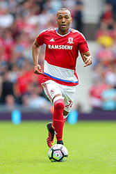 Emilio Nsue of Middlesbrough in action - Rogan Thomson/JMP - 28/08/2016 - FOOTBALL - The Hawthornes - West Bromwich, England - West Bromwich Albion v Middlesbrough - Premier League.