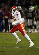 Kansas City Chiefs linebacker Dee Ford (55) chases the action during the NFL week 12 regular season football game against the Oakland Raiders on Thursday, Nov. 20, 2014 in Oakland, Calif. The Raiders won their first game of the season 24-20. ©Paul Anthony Spinelli