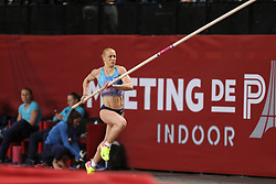 February 7, 2018 - Paris, Ile-de-France, France - Nicoleta Kyriakopoulou of Greece competes in pole vault during the Athletics Indoor Meeting of Paris 2018, at AccorHotels Arena (Bercy) in Paris, France on February 7, 2018. (Credit Image: © Michel Stoupak/NurPhoto via ZUMA Press)