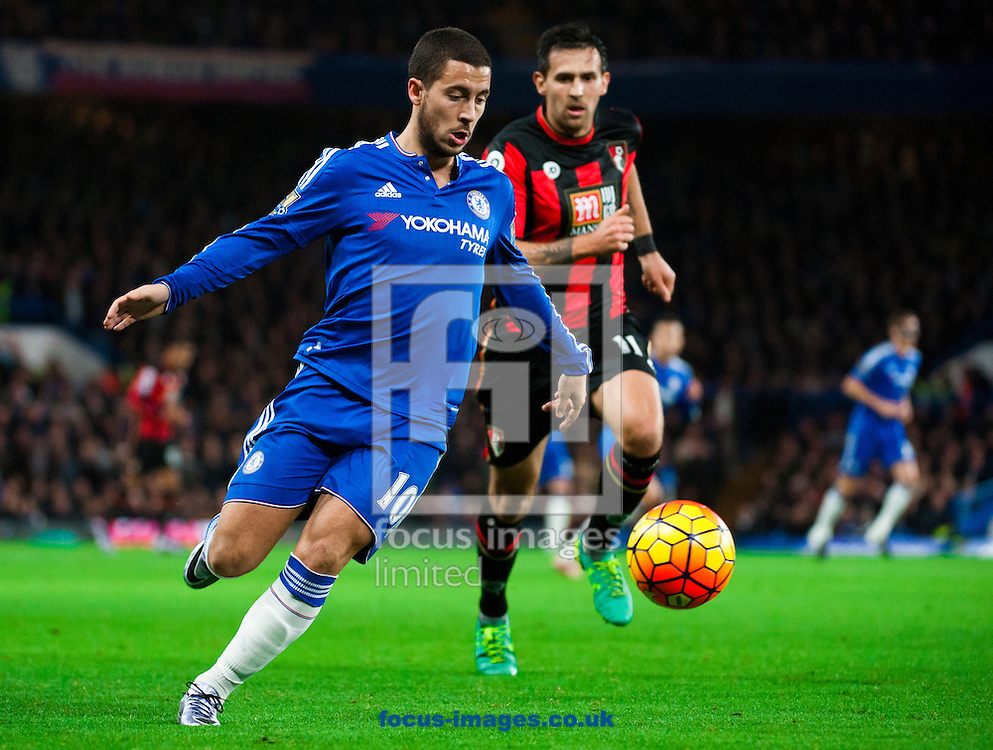 Eden Hazard of Chelsea  during the Barclays Premier League match at Stamford Bridge, London<br /> Picture by Jack Megaw/Focus Images Ltd +44 7481 764811<br /> 05/12/2015