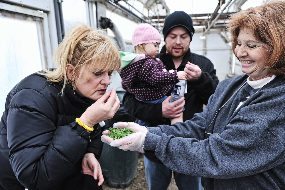 Chef Josh Adams takes family and friends to visit Chef's Garden in Ohio.