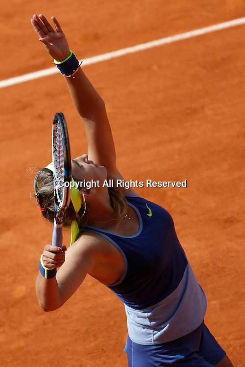 06.05.2015. Madrid, Spain, WTA Madrid Open Tennis Tournament. Match played between Serena WILLIAMS (USA) and Victoria AZARENKA (BLR)  Victoria AZARENKA during match.