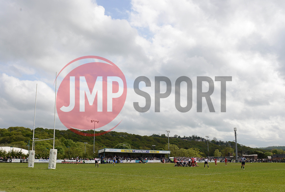A general view of Abbeydale Sports ground - Photo mandatory by-line: Dougie Allward/JMP - Mobile: 07966 386802 - 10/05/2015 - SPORT - Rugby - Sheffield - Abbeydale Dale Sports - Rotherham Titans v Bristol Rugby - Greene King IPA Championship