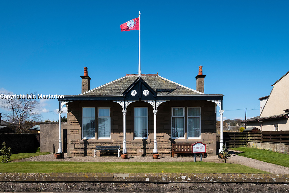 View of Clubhouse of Carnoustie Ladies Golf Club in Carnoustie , Angus, Scotland, UK