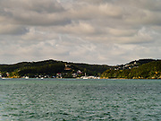 View of Paihia from the water, Bay of Islands, Northland, New Zealand.