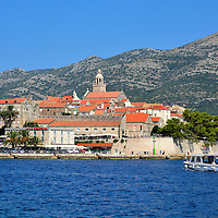 Harbor View of Stari Grad Korčula, Croatia<br />