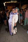 GRACE PILKINGTON; JANE LAMONTH, Tatler magazine's  pyjama party sponsored by Thomas Pink. Claridge's. London. 7 July 2011.<br /> <br />  , -DO NOT ARCHIVE-© Copyright Photograph by Dafydd Jones. 248 Clapham Rd. London SW9 0PZ. Tel 0207 820 0771. www.dafjones.com.