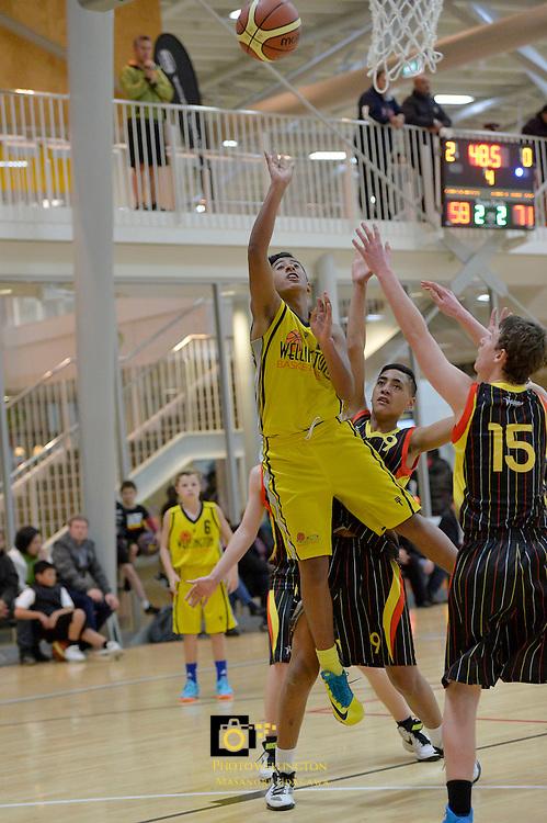 2013 U15 National Championship Basketball Tournament at ASB Sports Centre, Kilbirnie, Wellington, New Zealand on Thursday 25 July 2013. <br /> Photo by Masanori Udagawa. <br /> www.photowellington.photoshelter.com