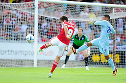 Bristol City's Sam Baldock volleys for the ball towards goal - Photo mandatory by-line: Dougie Allward/JMP - Tel: Mobile: 07966 386802 11/08/2013 - SPORT - FOOTBALL - Sixfields Stadium - Sixfields Stadium -  Coventry V Bristol City - Sky Bet League One