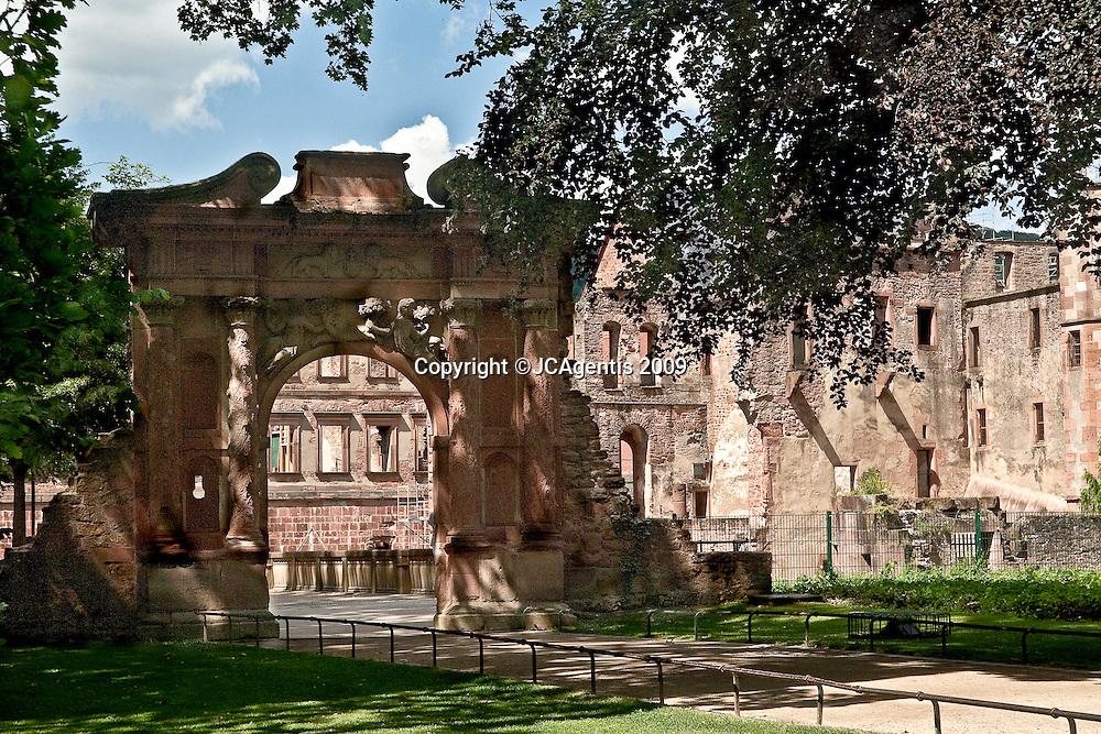 Entrance to the Heidelberg Castle in Heidelberg Germany