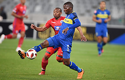 Cape Town-180804 Cape Town city defender Thami Mkhize challenged by Thuso Phala of Supersport in the first game of the 2018/2019 season at Cape Town Stadium.photograph:Phando Jikelo/African News Agency/ANAr