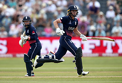 Natalie Sciver of England Women and Tammy Beaumont of England Women take a run - Mandatory by-line: Robbie Stephenson/JMP - 09/07/2017 - CRICKET - Bristol County Ground - Bristol, United Kingdom - England v Australia - ICC Women's World Cup match 19