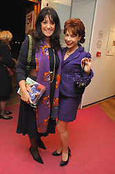 Left to right, GAIL REBUCK and Author KATHY LETTE at an exhibition of artist Tess Barnes's work '50 Women of Substance' sponsored by First Direct in aid of Breast Cancer Haven held at The Mall Gallery, London on 26th February 2008.<br /><br />NON EXCLUSIVE - WORLD RIGHTS