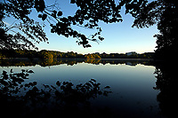 Centennial Campus' Lake Raleigh at sunrise.