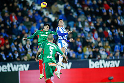 November 23, 2018 - Leganes, MADRID, SPAIN - Carrillo of Leganes during the Spanish Championship La Liga football match between CD Leganes and Deportivo Alaves on November 23th, 2018 at Estadio de Butarque in Leganes, Madrid, Spain. (Credit Image: © AFP7 via ZUMA Wire)