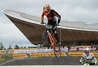 Edward Pole in action during the Prudential RideLondon BMX Grand Prix. Prudential RideLondon 28/07/2017<br /> <br /> Photo: Bob Martin/Silverhub for Prudential RideLondon<br /> <br /> Prudential RideLondon is the world's greatest festival of cycling, involving 100,000+ cyclists – from Olympic champions to a free family fun ride - riding in events over closed roads in London and Surrey over the weekend of 28th to 30th July 2017. <br /> <br /> See www.PrudentialRideLondon.co.uk for more.<br /> <br /> For further information: media@londonmarathonevents.co.uk