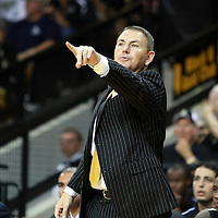 Central Florida head coach Donnie Jones during the NCAA basketball game against the USF Bulls at the UCF Arena on November 18, 2010 in Orlando, Florida. UCF won the game 65-59. (AP Photo/Alex Menendez)