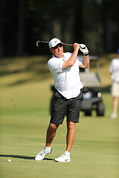 Former Ohio State head football coach Urban Myer tees off during the Chick-fil-A Peach Bowl Challenge at the Ritz Carlton Reynolds, Lake Oconee, on Tuesday, April 30, 2019, in Greensboro, GA. (Chris Collins via Abell Images for Chick-fil-A Peach Bowl Challenge)