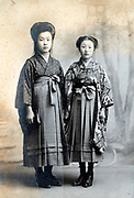 studio portrait of two women Japan ca 1930s