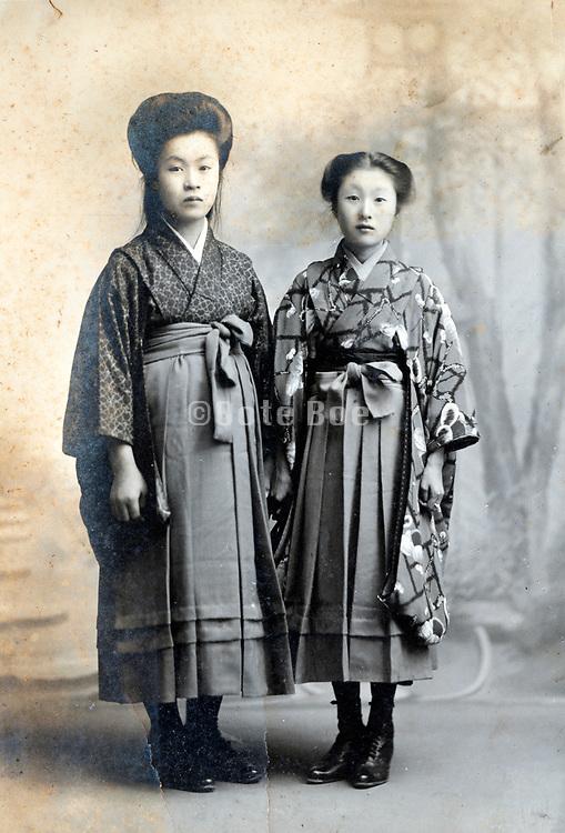 studio portrait of two women Japan ca 1930s