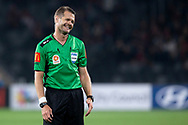SYDNEY, AUSTRALIA - NOVEMBER 22: Match referee Chris Beath smiles during the round 7 A-League soccer match between Western Sydney Wanderers FC and Melbourne City FC on November 22, 2019 at Bankwest Stadium in Sydney, Australia. (Photo by Speed Media/Icon Sportswire)