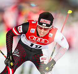 18.01.2014, Casino Arena, Seefeld, AUT, FIS Weltcup Nordische Kombination, Seefeld Triple, Langlauf, im Bild Mario Stecher (AUT) // Mario Stecher (AUT) during Cross Country at FIS Nordic Combined World Cup Triple at the Casino Arena in Seefeld, Austria on 2014/01/18. EXPA Pictures © 2014, PhotoCredit: EXPA/ JFK