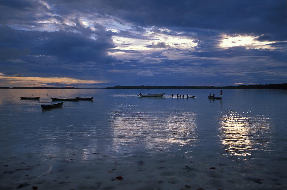 View of Roviana Lagoon from Kindu, New Georgia Island, The Solomon Islands