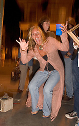 October 31, 2005. New Orleans, Louisiana. <br /> Halloween, post Katrina, New Orleans. As the city returns to a strange sense of normalcy and the citizens return, New Orleans once again hosts a Halloween parade and party. Kellye Deal.<br /> Photo; ©Charlie Varley/varleypix.com
