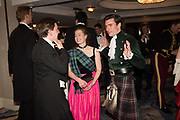 SAMUEL RICHARDS; SARAH MIDDLETON; LUCAS HAMILTON-EDDY, The 170th Royal Caledonian Ball 2018. In aid of various Scottish charities. Grosvenor House Hotel. 4 May 2018