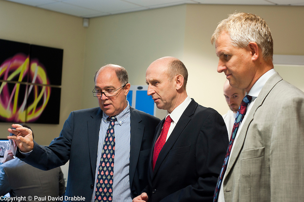 John Healey MP Member for Wentworth  Dearne Visits Thornbury Medical Centre.17th October 2011. Image © Paul David Drabble