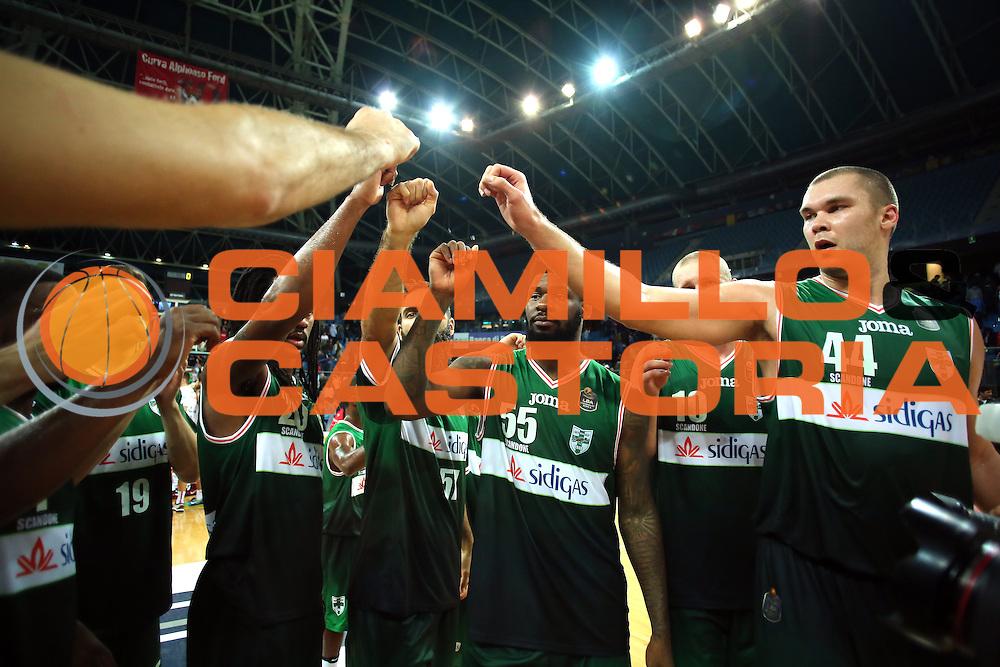 Esultanza Avellino<br /> Consultinvest VL Pesaro - Sidigas Avellino <br /> Lega BasketSerie A 2016/2017<br /> Pesaro 23102016