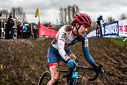 Bethany CRUMPTON of Great Britain during last lap of Women Elite race, UCI Cyclo-cross World Championships at Valkenburg, the Netherlands, 3 February 2018. Photo by Pim Nijland / PelotonPhotos.com | All photos usage must carry mandatory copyright credit (Peloton Photos | Pim Nijland)