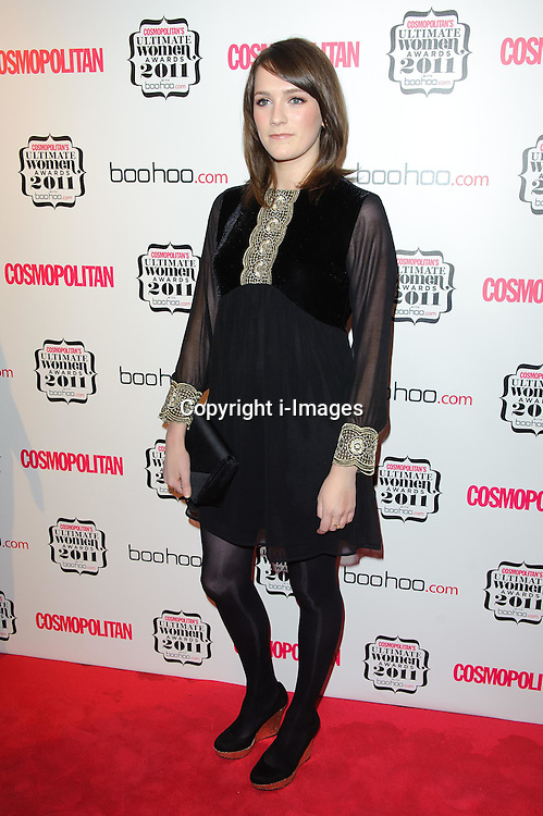 Charlotte Ritchie at Cosmopolitan's Ultimate Women Awards 2011 in London, Thursday, November 3rd 2011.  Photo by: i-Images