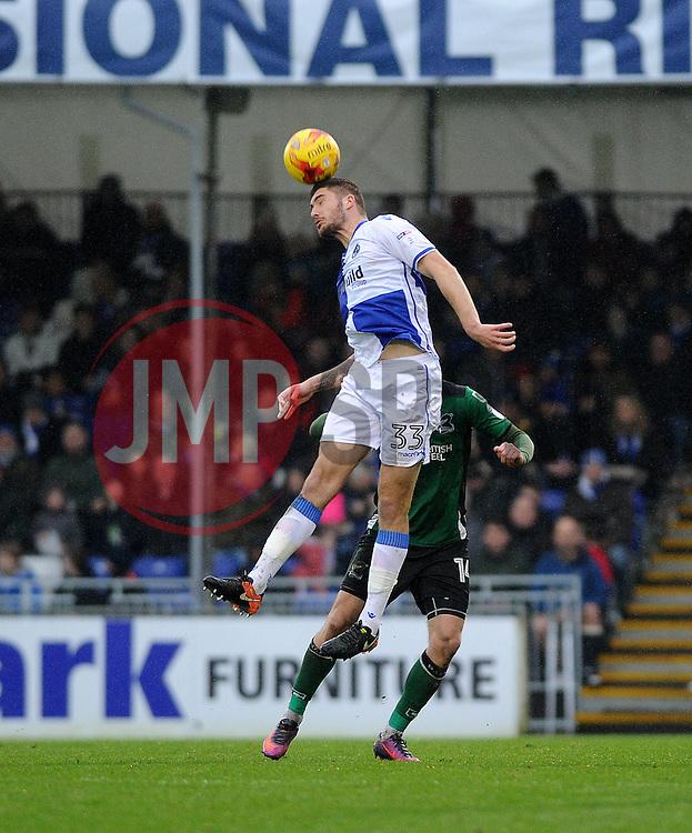 Ryan Sweeney of Bristol Rovers heads clear - Mandatory by-line: Neil Brookman/JMP - 25/02/2017 - FOOTBALL - Memorial Stadium - Bristol, England - Bristol Rovers v Scunthorpe United - Sky Bet League One