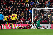 Goal - Abdoulaye Doucoure (16) of Watford scores a goal beating Mark Travers (42) of AFC Bournemouth to give a 0-1 during the Premier League match between Bournemouth and Watford at the Vitality Stadium, Bournemouth, England on 12 January 2020.