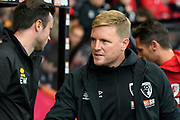 AFC Bournemouth manager Eddie Howe during the Premier League match between Bournemouth and Norwich City at the Vitality Stadium, Bournemouth, England on 19 October 2019.