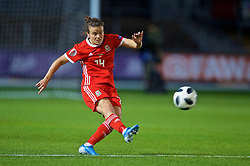 NEWPORT, WALES - Tuesday, September 3, 2019: Wales' Hayley Ladd during the UEFA Women Euro 2021 Qualifying Group C match between Wales and Northern Ireland at Rodney Parade. (Pic by David Rawcliffe/Propaganda)