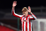 Stoke City midfielder Sam Clucas in action during the EFL Sky Bet Championship match between Stoke City and Preston North End at the Bet365 Stadium, Stoke-on-Trent, England on 12 February 2020.