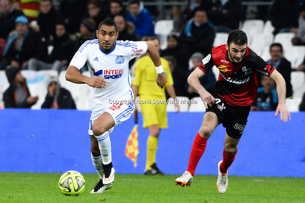 Dimitri PAYET / Christophe KERBRAT - 18.01.2015 - Marseille / Guingamp - 21eme journee de Ligue 1 -<br />