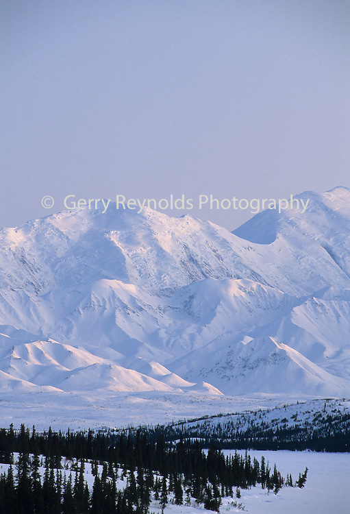 Mount McKinley, Wonder Lake, Winter, Denali National Park, Alaska
