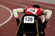 Physically challenged runner takes part in a competition in Dubai.