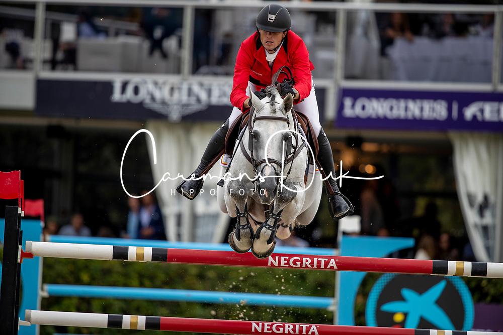 Wathelet Gregory, BEL, MJT Nevado S<br /> Longines FEI Jumping Nations Cup Final<br /> Challenge Cup - Barcelona 2019<br /> © Dirk Caremans<br />  06/10/2019