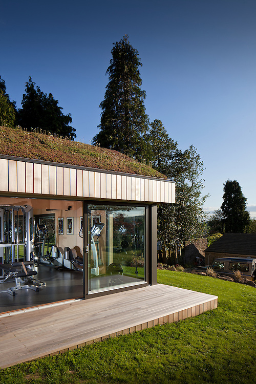 ecospace studios, garden studio, gym, peak district, england, uk,