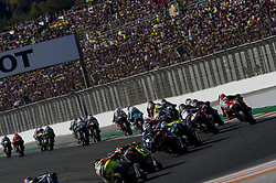 November 12, 2017 - Valencia, Valencia, Spain - Star race of Moto2 during of the Gran Premio Motul de la Comunitat Valenciana, Circuit of Ricardo Tormo,Valencia, Spain. Saturday 12th of november 2017. (Credit Image: © Jose Breton/NurPhoto via ZUMA Press)