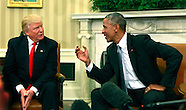 Trump Obama meet in the Oval Office