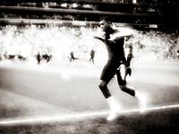 Kylian Mbappé, the best young player of the FIFA World Cup 2018 during warm up to the match between Uruguay and France.<br /> <br /> Kylian Mbappé, VMs beste unge spiller varmer opp til VM-kampen i fotball mellom Uruguay og Frankrike på Nizjnij Novgorod-stadion.