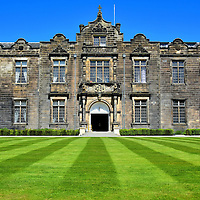 University&rsquo;s Lower &amp; Upper College Halls in St Andrews, Scotland <br /> You enter the well-manicured lawn of St Salvator&rsquo;s Quad after walking through the University of St Andrews&rsquo;s main gate on North Street. The prominent anchor is the Lower &amp; Upper College Halls, now reserved for special events such as weddings. The school began in 1410, was chartered by local Bishop Henry Wardlaw in 1411 and officially approved by Pope Benedict XIII in 1413. This history makes it the world&rsquo;s third oldest, English speaking university.